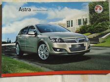 Vauxhall Astra range brochure 2009 models Ed 1