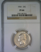 1941 Proof Washington Silver Quarter NGC Graded PF66 GEM Proof