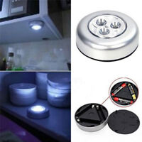Round 3 LED Battery Powered on/off self-stick Push Touch Light Car Home Lamp CPE