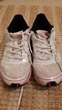 Ladies' good quality pink/white karrimor road and off road trainers, size 7.5