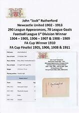 JOCK RUTHERFORD NEWCASTLE UTD 1902-1913 EXTREMELY RARE ORIGINAL SIGNED CUTTING