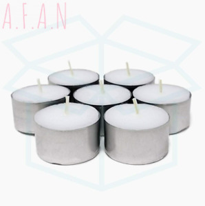 We Can Source It Ltd - 100 White Tea Light Candles Unscented Non-toxic - 8...