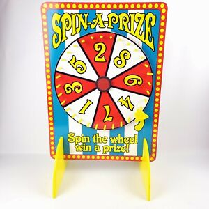 """Spin A Prize Spin The Wheel Spinner Board 12"""" Spinning Wheel Lottery 8 Numbers"""