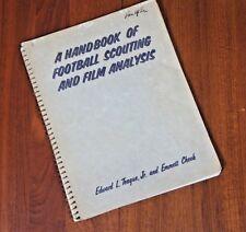 Rare Vintage 1955 A Handbook of Football Scouting And Film Analysis Teague Cheek