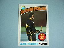1976/77 TOPPS NHL HOCKEY CARD #180 GILBERT PERREAULT NM SHARP!! 76/77 TOPPS