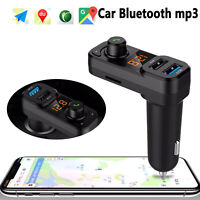 Wireless Bluetooth Auto Handsfree Car AUX Audio FM Receiver Adapter USB Charger