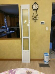 Patio panel White Aluminum Sliding Pet Door