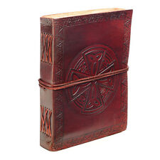 Fair Trade Handmade Indra Circular Celtic Cross Leather Journal 2nd Quality