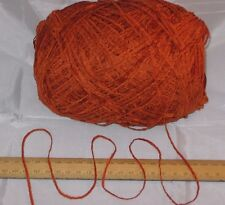 100g Ball Burnt Orange British Acrylic Chenille Knitting Wool Yarn Soft 4ply