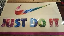 """NIKE LOGO Just do it HOT IRON ON TRANSFER  Patch Large  swoosh 8""""x3"""" & 10"""" x 2"""""""