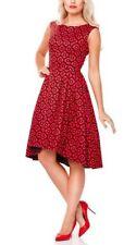 Vestiti da donna rosso in misto cotone senza maniche