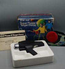 1976 Mego STAR TREK Super Phaser II Target Game w/ original BOX Kirk Spock toy !