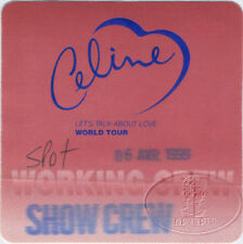 Celine Dion 1999 Let's Talk About Love Tour Backstage Pass Crew Red