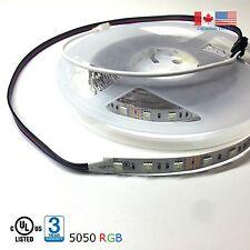 Super Bright LED Strip Light 5050 UL Listed 16Ft 12VDC RGB Colour Changing