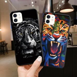 Animal Tiger Eagle Phone Case For iPhone 11 12pro MAX7 8Plus XR XS6 Cover Fundas