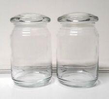 2 Yankee Glass Candle Jars-Cap Lid Empty 22oz Clean Wax-Free/Glue-Free Imperfect