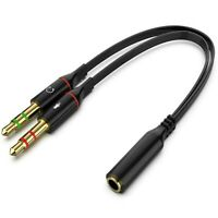 Headphone Splitter for Computer 3.5mm Female to 2 Dual 3.5mm Male Headphone M...
