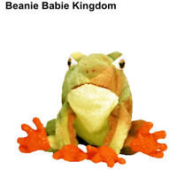 """Ty Beanie Baby * PRINCE * The Green and Orange Ty-Dye Frog 6"""""""