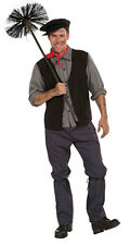 MENS VICTORIAN EDWARDIAN CHIMNEY SWEEP MAN FANCY DRESS COSTUME OUTFIT NEW M/L