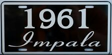 1961 61 IMPALA LICENSE PLATE 283 348 CONVERTIBLE CHEVY CHEVROLET SS SUPER SPORT
