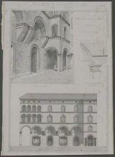 MODENA. Restauro della casa Meuri. Litografia anno 1891