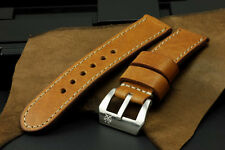 Saxon Verreno SV Antique Brown II Leather 24mm Panerai Watch Strap Band for 44mm