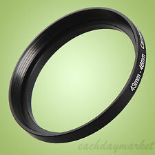 43mm to 46mm 43-46 43-46mm 43mm-46mm Stepping Step Up Lens Filter Ring Adapter