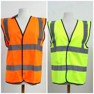Orange & Yellow High Vis Vest / Waistcoat Site & Workplace Safety. EN471 Class 2