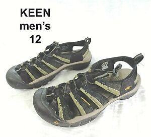 KEEN Mens Size 12 NEWPORT H2 Black Khaki Hiking Utility Waterproof Sport Sandals