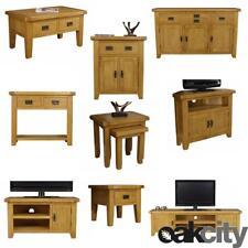 Arklow Oak Living Room Waxed TV Sideboard Coffee Table