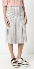 Isabel Marant Pink Striped Cotton Skirt. BNWT. Size FR40/UK12. Sold Out!!
