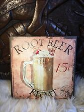 Retro French Vintage shabby chic Style kitchen sign Picture Root Beer Float