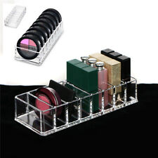 8 Slot Acrylic Compact Holder Powder Eye Blush Lipstick Case Storage Organiser
