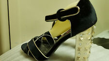 ^^^Women's Betseyville Heart breaker Velvet Studded Heel Sandals SIZE 10