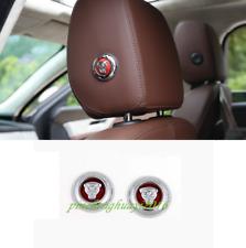 2PCS Front Row Headrest Button Cover Trim For Jaguar E-Pace 2018 2019