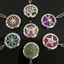 Perfume Essential Oil Diffuser Locket Pendant Necklace Aroma Box Jewellery Gifts