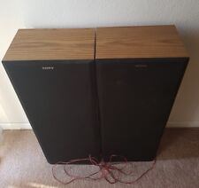 VINTAGE SONY SS-U211 SPEAKERS-INPUT POWER 200W-RATED IMPEDANCE 8