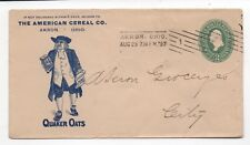 1897 US Advertising Cover for Quaker Oats American Cereal Co