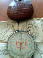 RARE Engineer Logarithmic Mathematical Circular Slide Rule KL-1 Russian USSR