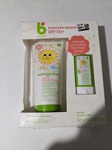 Babyganics Suncare Essential SPF 50+ Sunscreen Lotion Suncreen Stick