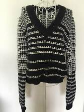 sportmax code by max mara navy/white wool long sleeve sweater jumper Top M