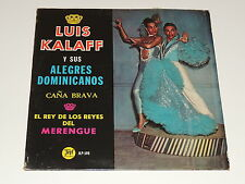 LUIS KALAFF Y SUS ALEGRES DOMINICANOS EL REY DE LOS REYES DEL MERENGUE Lp RECORD