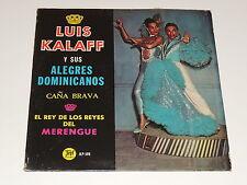 LUIS KALAFF Y SUS ALEGRES DOMINICANOS EL REY DE LOS REYES DEL MERENGUE Lp RECORD