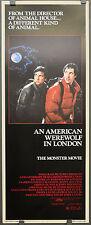 AN AMERICAN WEREWOLF IN LONDON 1981 ORIG MOVIE POSTER 14X36 DAVID NAUGHTON