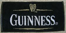 "Guinness Golf Towel Black, Gold, and White 17 1/2"" x 8 1/4"" LQQK!!!"