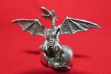Pewter Hatching Dragon Egg Figurine