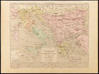 1859. Turchia, Grecia E Italie. Carta Geografica Antica di Houze