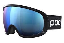 POC Fovea Comp Uranium Black Snow Goggle with Clarity Spektris Blue Mirror, New!