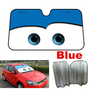 1x Car Front Window Sun Shade Visor SUV Windshield Sunshade Cartoon Block Cover