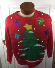 Great Christmas Sweater New  With Tags Women's Small Red Ugly